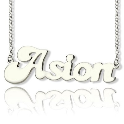 Ghetto Name Necklace Sterling Silver - Crafted By Birthstone Design™