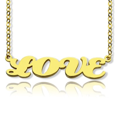 Solid Gold 18ct Capital Puff Font Name Necklace - Crafted By Birthstone Design™