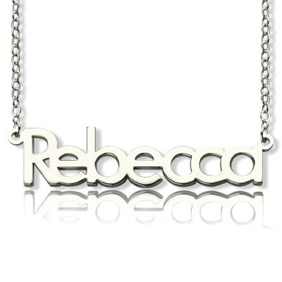 Make Your Own Name Necklace Sterling Silver - Crafted By Birthstone Design™