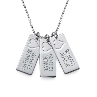 Name Bar Necklace in Silver - Crafted By Birthstone Design™