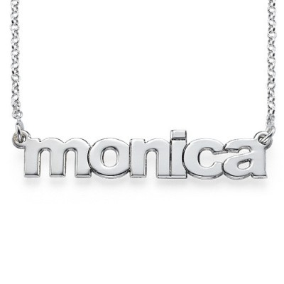 Nameplate Necklace in Lowercase Font - Crafted By Birthstone Design™