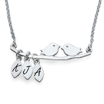 Personalised Mum Jewellery – Silver Bird Necklace - Crafted By Birthstone Design™