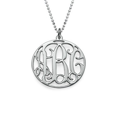 Personalised Circle Initials Necklace - Crafted By Birthstone Design™