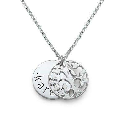 Personalised Family Necklace in Silver - Crafted By Birthstone Design™