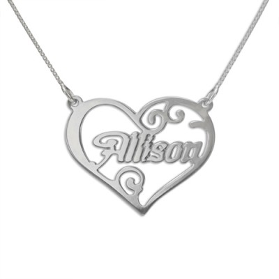 Personalised Heart Name Necklace - Crafted By Birthstone Design™