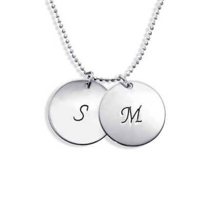 Personalised Sterling Silver Disc Pendant Necklace - Crafted By Birthstone Design™