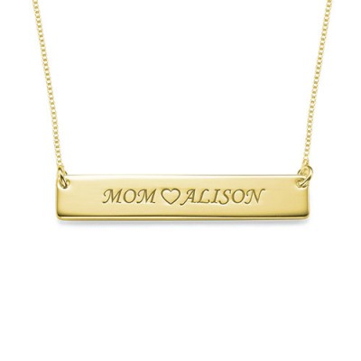 18ct Gold Plated Personalised Nameplate Necklace - Crafted By Birthstone Design™