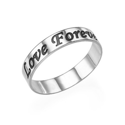 Script Sterling Silver Promise Ring - Crafted By Birthstone Design™
