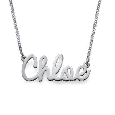 Personalised Stylish Name Necklace In Silver/Gold/Rose Gold - Crafted By Birthstone Design™