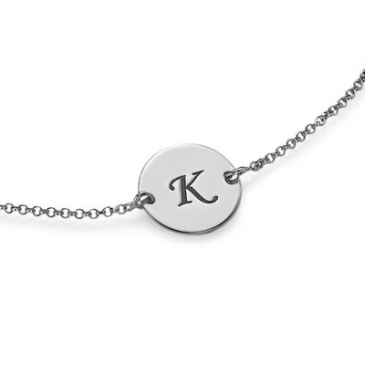 Sterling Silver Initial Bracelet/Anklet - Crafted By Birthstone Design™