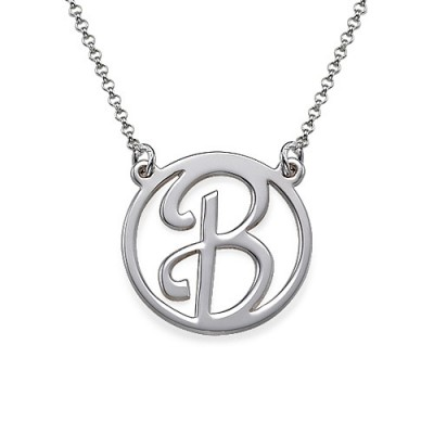 Silver Initial Pendant - Crafted By Birthstone Design™