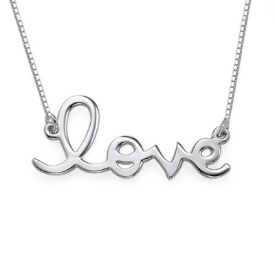 Love Necklace in Sterling Silver - Crafted By Birthstone Design™