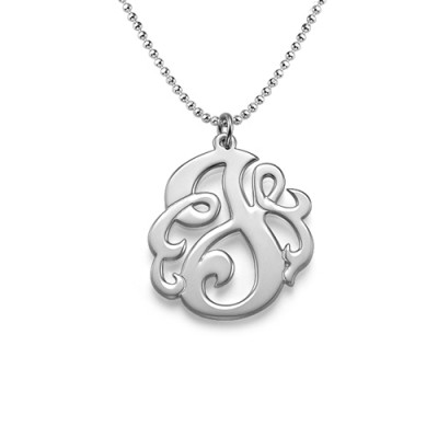 Silver Swirly Initial Necklace - Crafted By Birthstone Design™