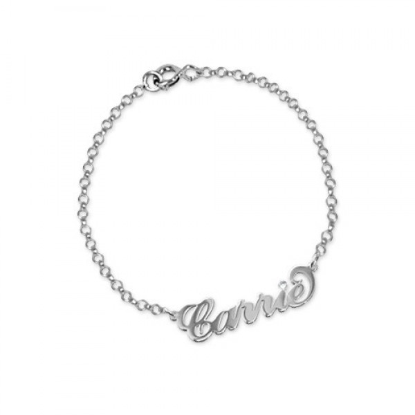 Silver and Crystal Name Bracelet/Anklet - Crafted By Birthstone Design™