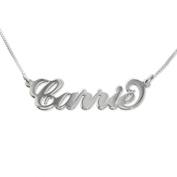 Small Name Necklace - Carrie Style - Crafted By Birthstone Design™