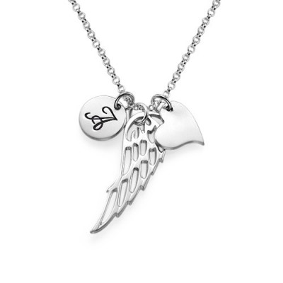 Sterling Silver Angel Wing Necklace - Crafted By Birthstone Design™