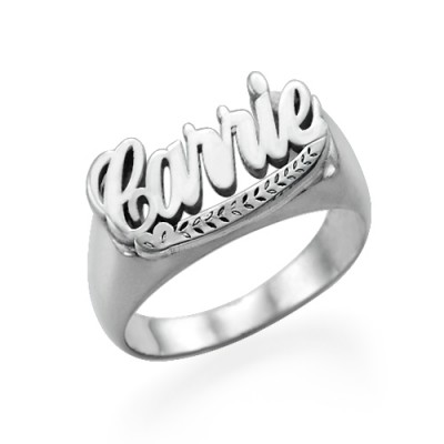 "Sterling Silver ""Carrie"" Name Ring - Crafted By Birthstone Design™"
