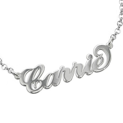 "Sterling Silver ""Carrie"" Name Bracelet / Anklet - Crafted By Birthstone Design™"