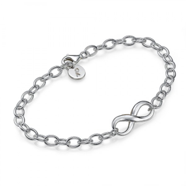 Sterling Silver Infinity Bracelet/Anklet - Crafted By Birthstone Design™