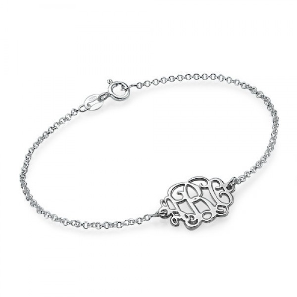 Sterling Silver Initials Bracelet /Anklet - Crafted By Birthstone Design™
