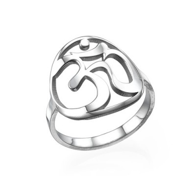 Sterling Silver Om Ring - Crafted By Birthstone Design™