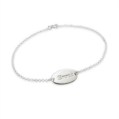 Sterling Silver Personalised Baby Bracelets/Anklet - Crafted By Birthstone Design™