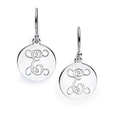 Sterling Silver Personalised Initial Earrings - Crafted By Birthstone Design™