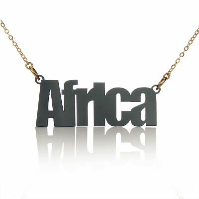 Acrylic Name Necklace Swis721 BIKCn BT Font Necklace - Crafted By Birthstone Design™