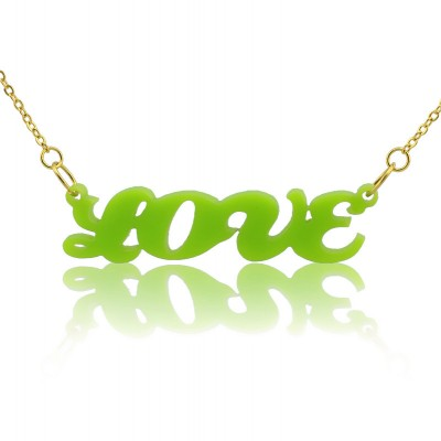 Colorful Cute Acrylic Name Necklace for Girls - Crafted By Birthstone Design™