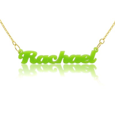 Custom Colorful Acrylic Name Necklace - Crafted By Birthstone Design™