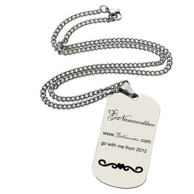 Logo and Brand Design Dog Tag Necklace - Crafted By Birthstone Design™