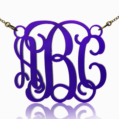 Personalised Cut Out Acrylic Monogram Necklace - Crafted By Birthstone Design™