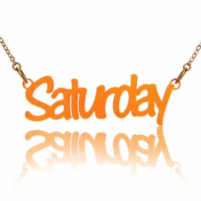 Colorful Acrylic Script Name Necklace - Crafted By Birthstone Design™