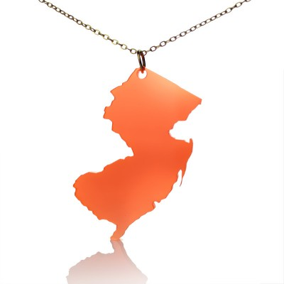 Acrylic New Jersey States Necklace American Map Necklace - Crafted By Birthstone Design™