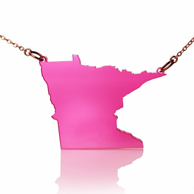 Acrylic Minnesota State Necklace America Map Necklace - Crafted By Birthstone Design™