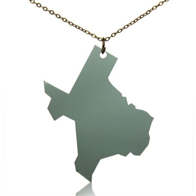 Acrylic Texas State Necklace America Map Necklace - Crafted By Birthstone Design™