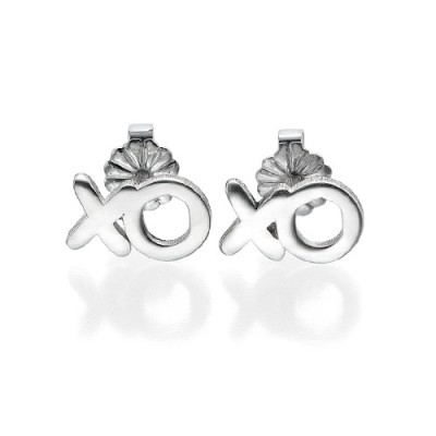 XO Silver Earrings - Crafted By Birthstone Design™