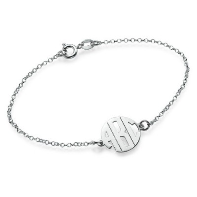 Xtra Small Block Monogram Bracelet/Anklet - Crafted By Birthstone Design™