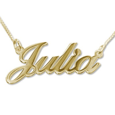 18ct Gold-Plated Silver Classic Name Necklace - Crafted By Birthstone Design™