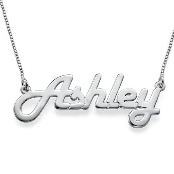 Stylish Silver Name Necklace - Crafted By Birthstone Design™