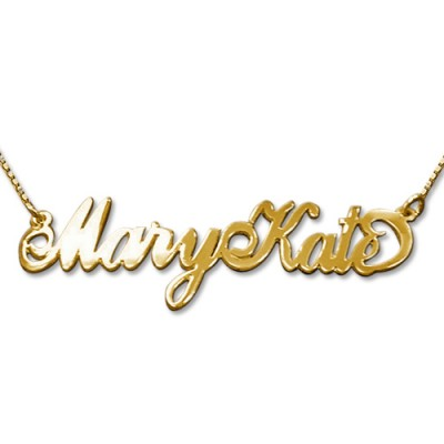 2 Capital Letters 18ct Gold Name Necklace - Crafted By Birthstone Design™