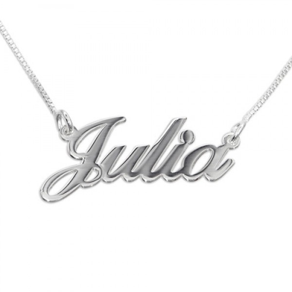 Small Personalised Classic Name Necklace In Silver/Gold/Rose Gold - Crafted By Birthstone Design™