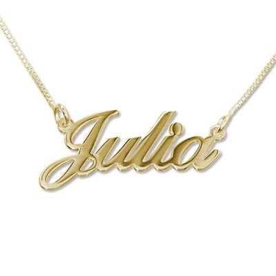 Small 18ct Gold-Plated Silver Classic Name Necklace - Crafted By Birthstone Design™