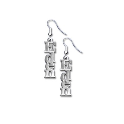 Sterling Silver Name Earrings - Crafted By Birthstone Design™