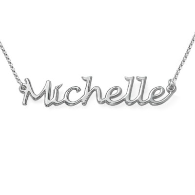 Silver Handwritten Name Necklace - Crafted By Birthstone Design™