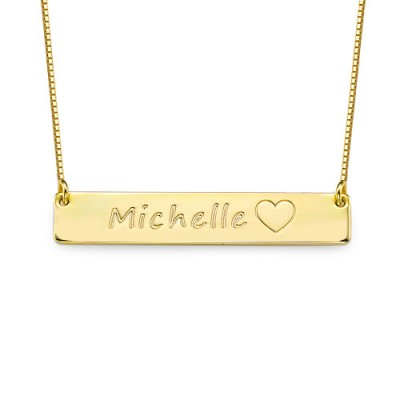 18ct Gold Plated Icon Bar Necklace - Crafted By Birthstone Design™