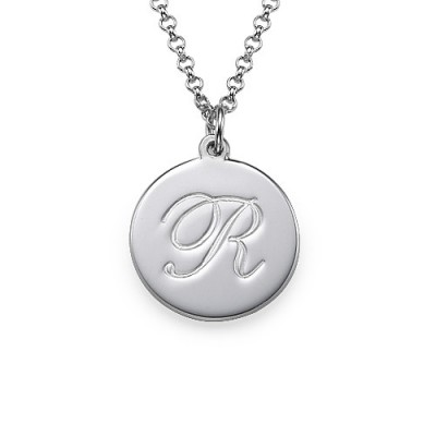 Sterling Silver Initial Script Pendant - Crafted By Birthstone Design™