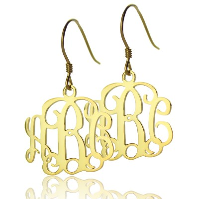 18ct Gold Plated Monogram Earrings - Crafted By Birthstone Design™