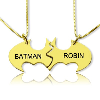 Personalised Puzzle Friend Name Necklace 18ct Gold Plated - Crafted By Birthstone Design™