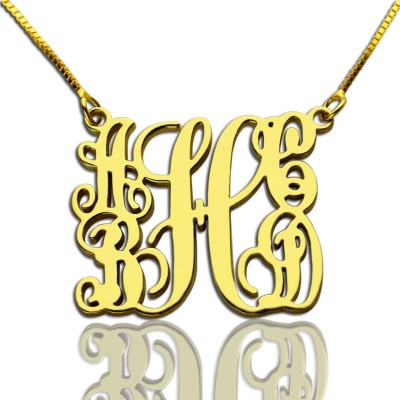 Gold Plated Family Monogram Necklace With 5 Initials - Crafted By Birthstone Design™
